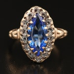 1930s Victorian Revival 10K Navette Ring