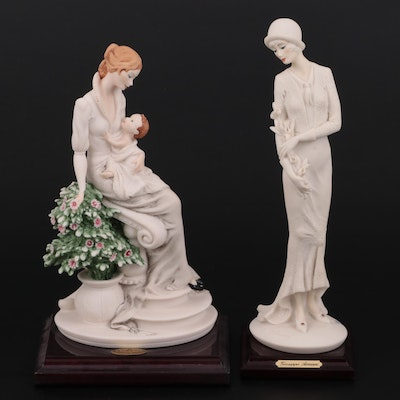 """Giuseppe Armani """"Maternity with Flowers"""" and """"Lady with Flowers"""" Figurines"""