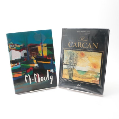 """French Language """"Marcel Mouly"""" and """"René Carcan"""" Art Books, Late 20th Century"""