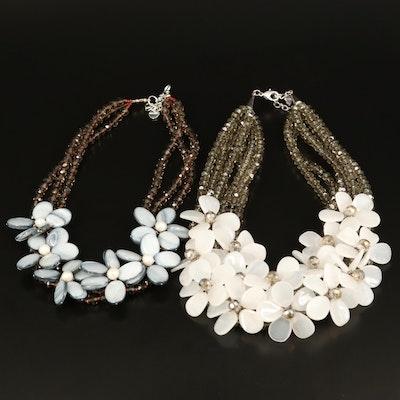 Nakamol Chicago Floral Multi-Strand Bib Necklaces