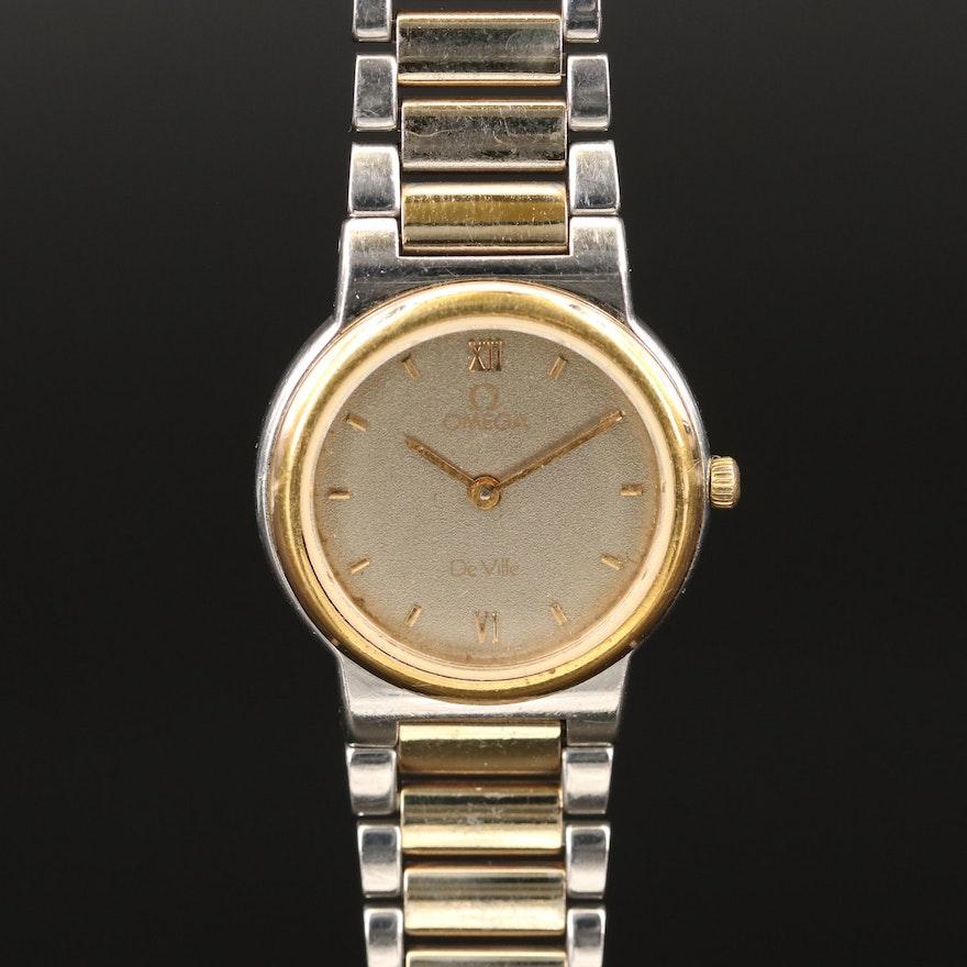 Omega DeVille Two Tone Quartz Wristwatch