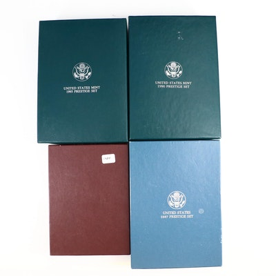 Four Different U.S. Mint Prestige Proof Sets