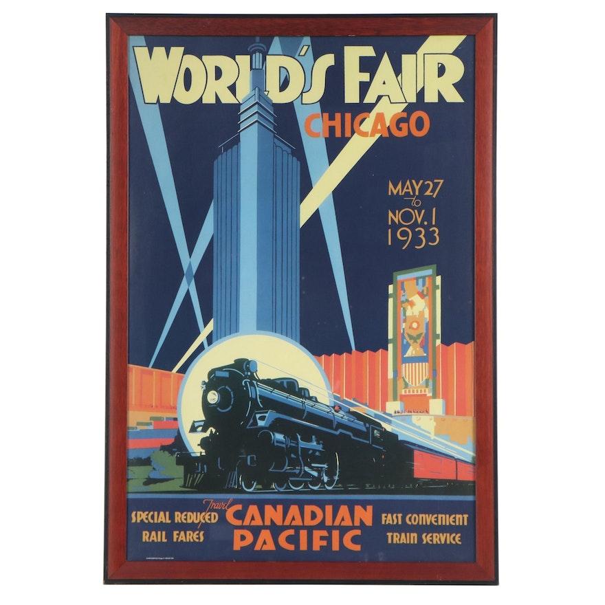 Chicago World's Fair Offset Lithograph Poster after Norman Fraser, circa 1998