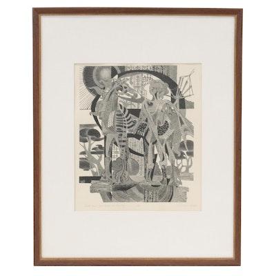 "Lenore Szesko Wood Engraving ""Each Time You Follow Me this Way"""