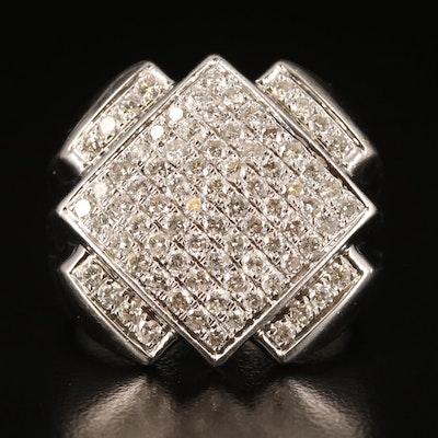 10K 2.04 CTW Pavé Diamond Ring