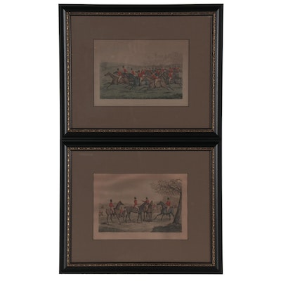 Hand-Colored Engravings after Henry Thomas Alken of Hunting Scenes