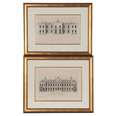 Henry Hulsbergh Engravings of Architectural Buildings