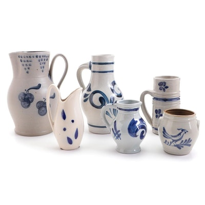Rowe Pottery Works and Other Salt Glazed Stoneware Tableware