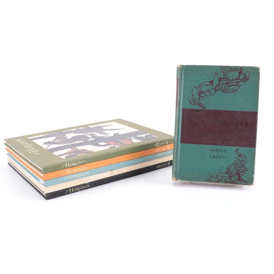 """Horizon"" Art History Books with ""Everyday Foods"" Cookbook, Mid-20th Century"