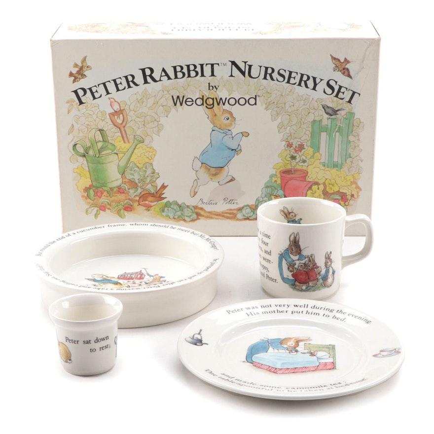 "Wedgwood ""Peter Rabbit"" Bone China Nursery Set"
