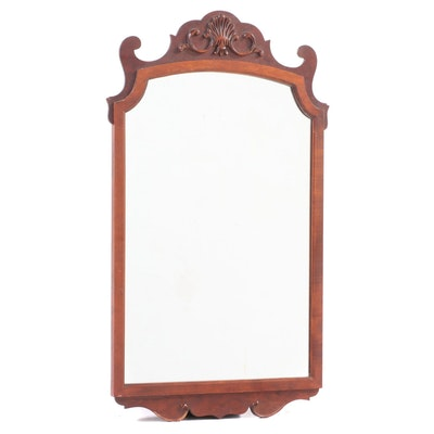 Chippendale Style Cherrywood Mirror, 20th Century