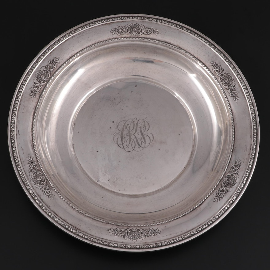 International Sterling Silver Vegetable Bowl, Early to Mid 20th Century