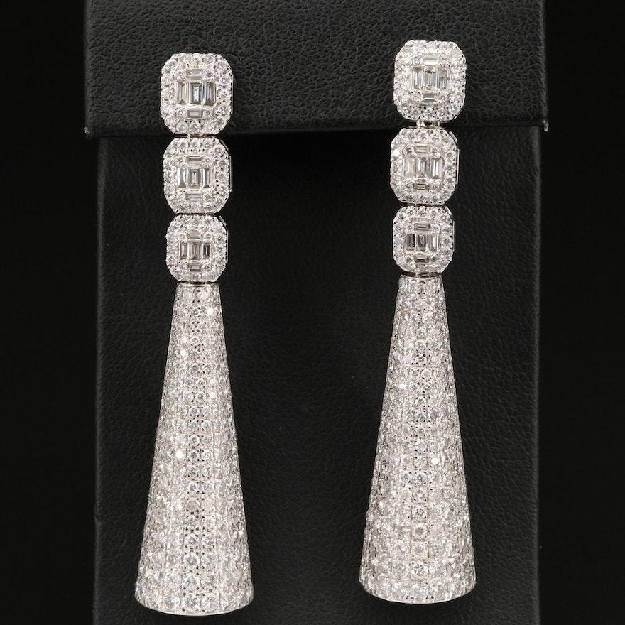14K 5.89 CTW Diamond Earrings