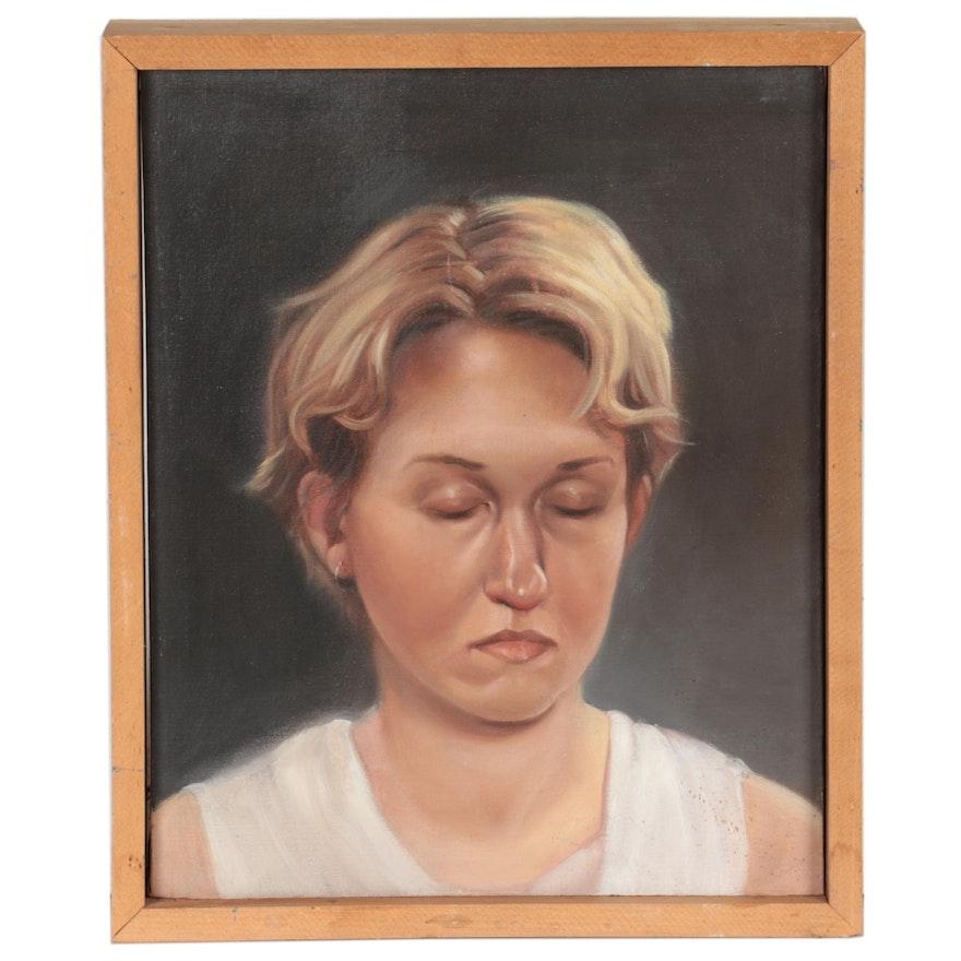 """Bruce Erikson Oil Painting """"Nikko,"""" 1990"""