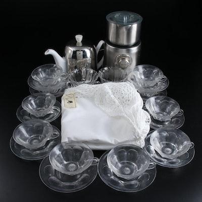 Breville Milk Café, Guy Degrenne Porcelain Teapot, and Other Tea Wares
