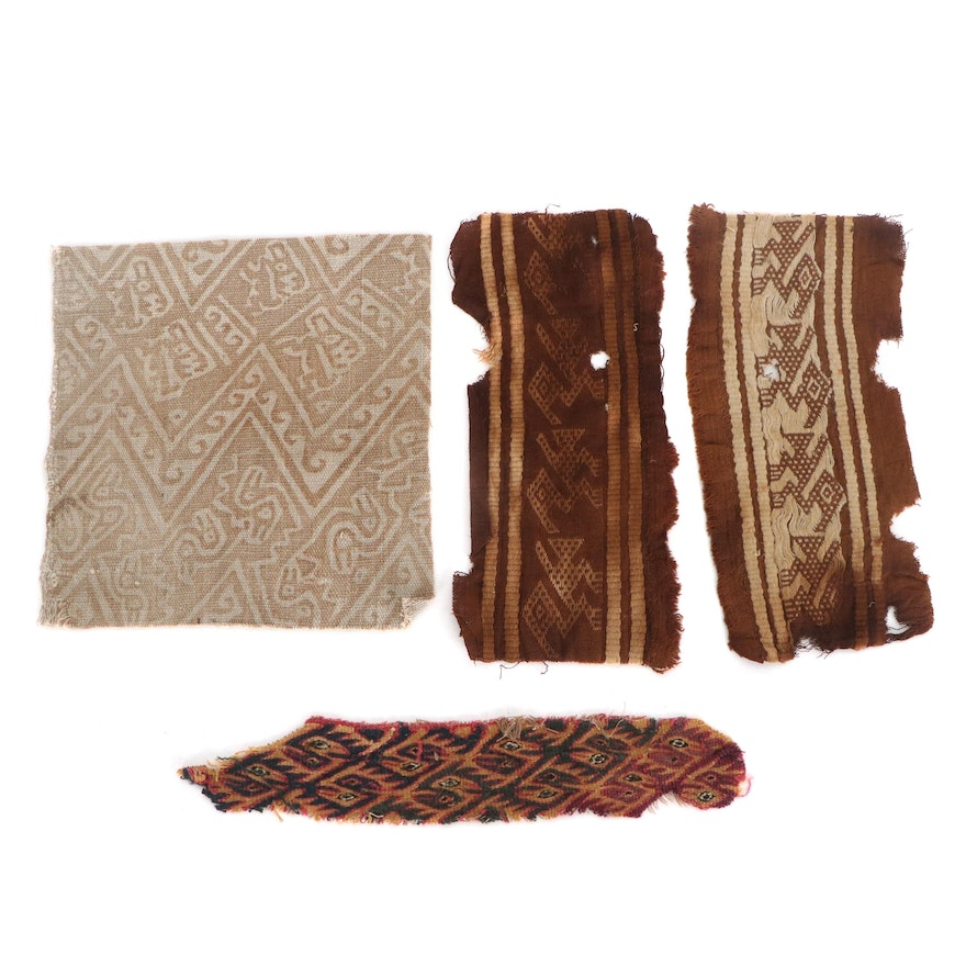 Pre-Columbian Andean Woven and Painted Textile Fragments, 12th–15th Century