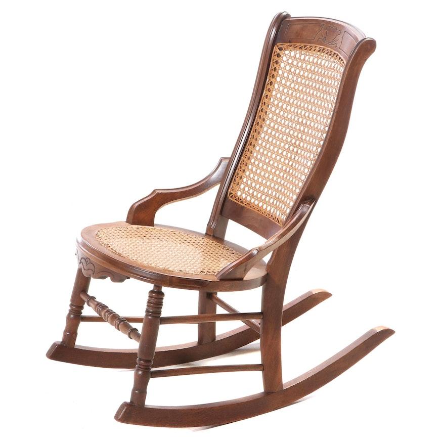 Victorian Walnut Rocking Chair, Late 19th Century