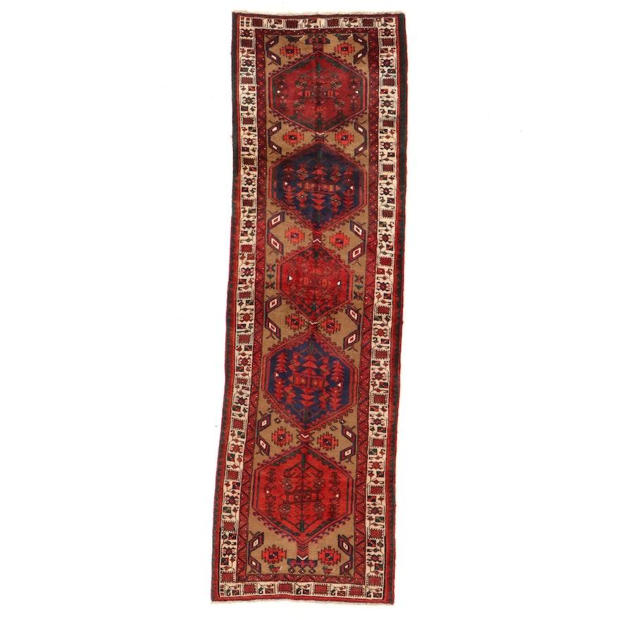 3'5 x 11'3 Hand-Knotted Persian Sarab Long Rug