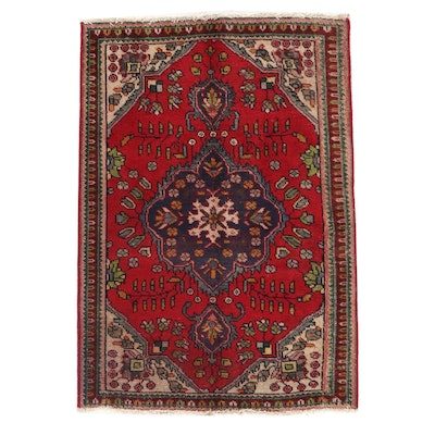 3'4 x 4'10 Hand-Knotted Northwest Persian Floral Area Rug