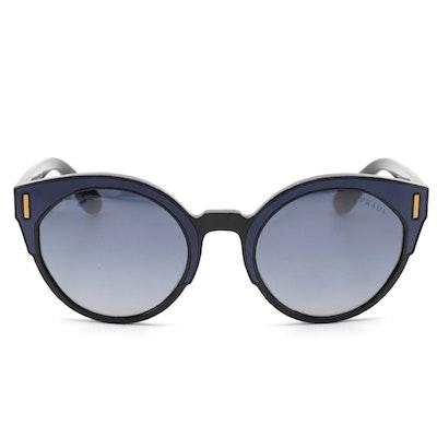 Prada SPR03U Blue Modified Cat Eye Sunglasses