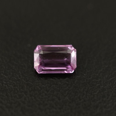 Loose 0.61 CT Rectangular Faceted Sapphire