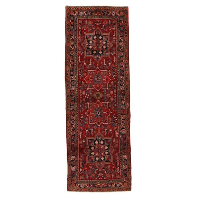 3'7 x 10'8 Hand-Knotted Persian Heriz Long Rug