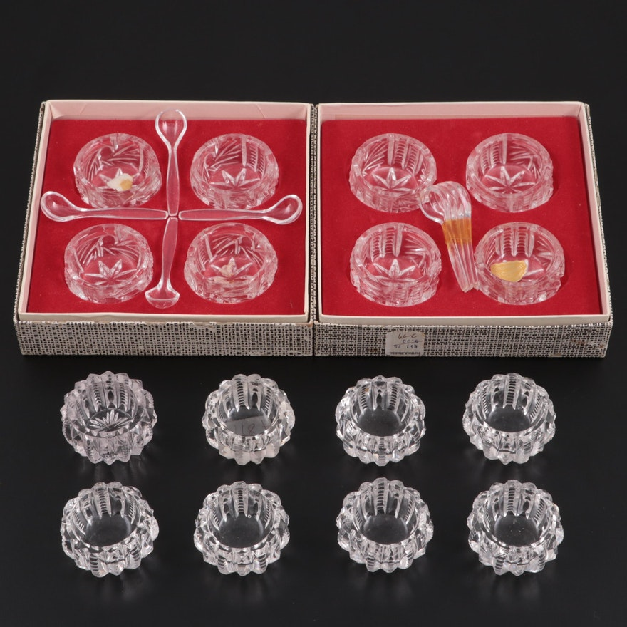 West German and Other Crystal Salt Cellars, Mid to Late 20th Century
