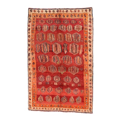 5' x 8' Hand-Knotted Persian Gabbeh Area Rug