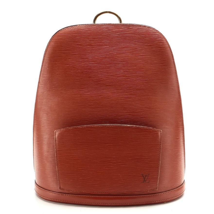 Louis Vuitton Gobelins Backpack in Kenyan Fawn Epi Leather