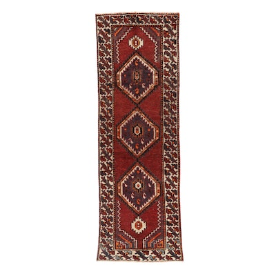 3'4 x 9'9 Hand-Knotted Persian Ardabil Long Rug