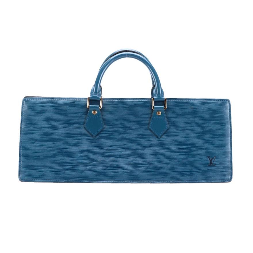 Louis Vuitton Sac Triangle in Toledo Blue Epi Leather