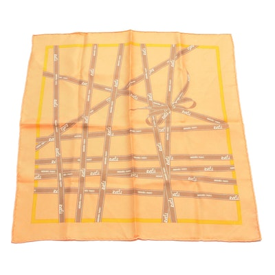 "Hermès ""Boulduc"" Silk Twill Pocket Square"
