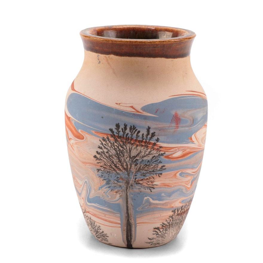 Sevierville Pottery Hand Thrown Ceramic Vase, 1986