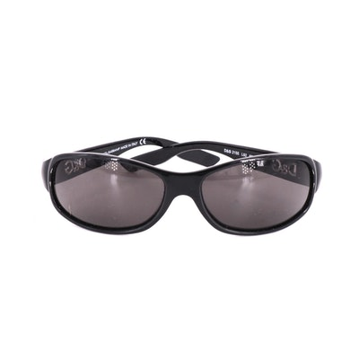 D&G 2155 Black Rectangular Frames with Branded Temples and Case