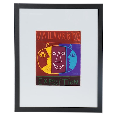 """Offset Lithograph Poster after Pablo Picasso """"Vallauris - 1956 Exposition"""""""