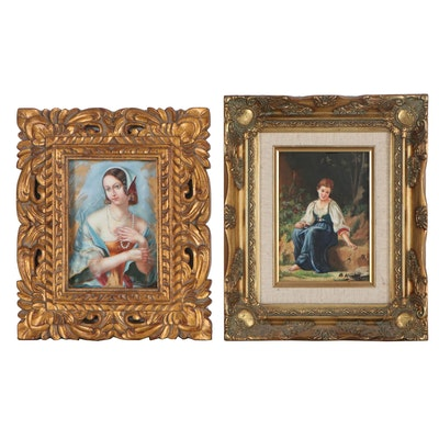 Oil Paintings after Vladimir Tiyuk and François-Alfred Delobbe