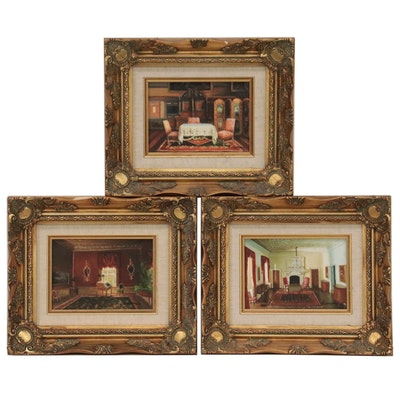 Oil Paintings of Interiors, circa 2000