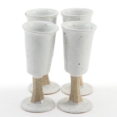 Artisan Handcrafted Glazed Stoneware Goblets