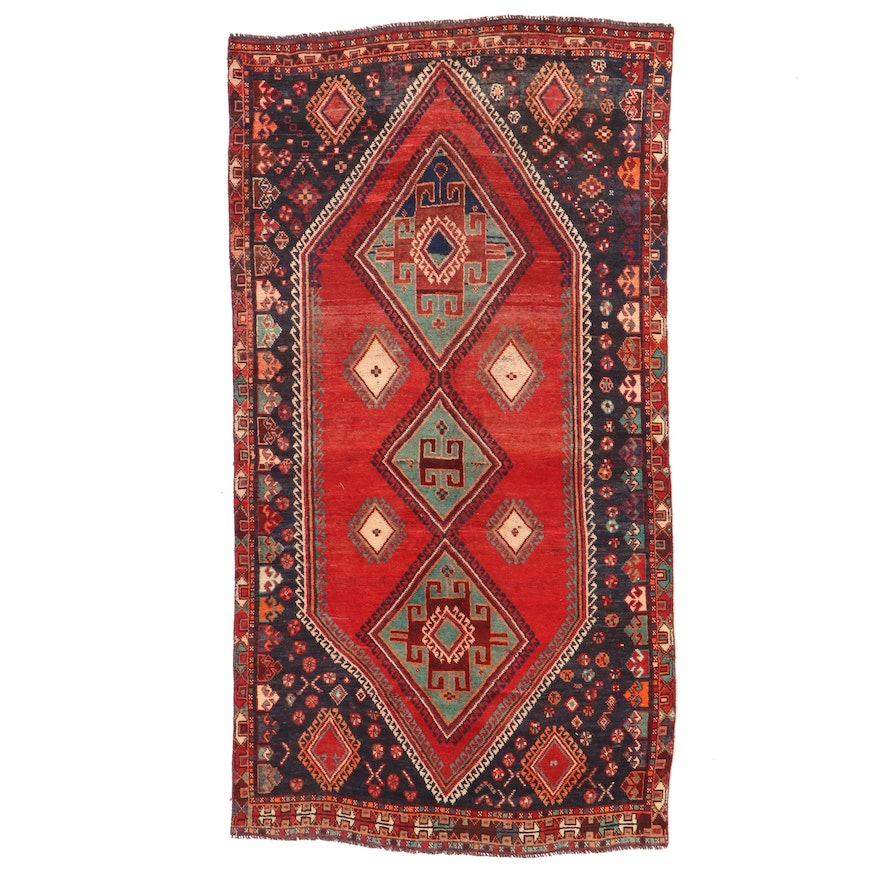 4'4 x 8'4 Hand-Knotted Persian Luri Area Rug