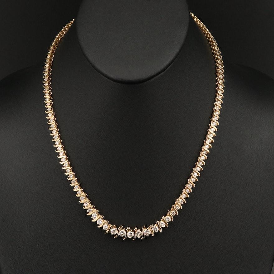 14K 5.97 CTW Diamond Rivière Necklace