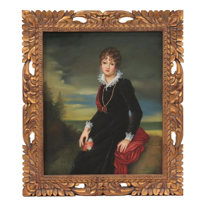 "Oil Painting after François Gérard ""Portrait of Catherine Stazhenskaya"""