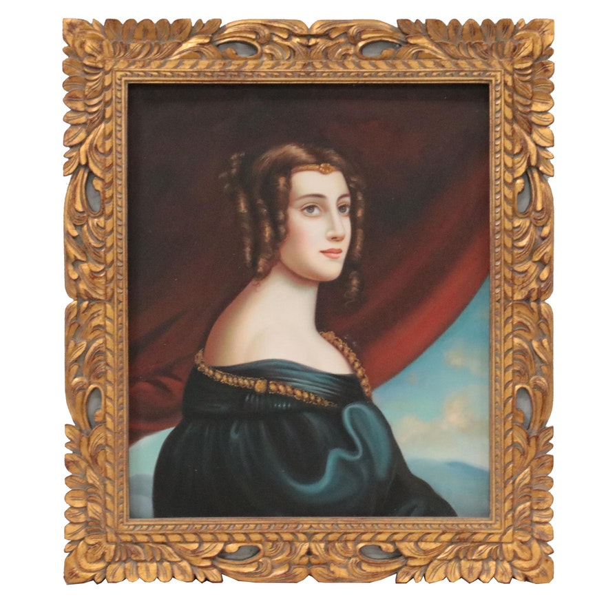 "Oil Painting after Joseph Karl Stieler ""Lady Jane Elizabeth Digby"""