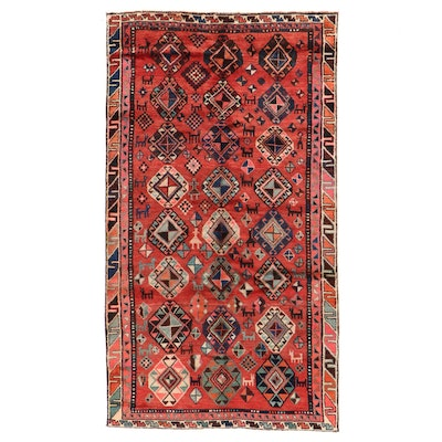 4'10 x 8'3 Hand-Knotted Persian Luri Area Rug