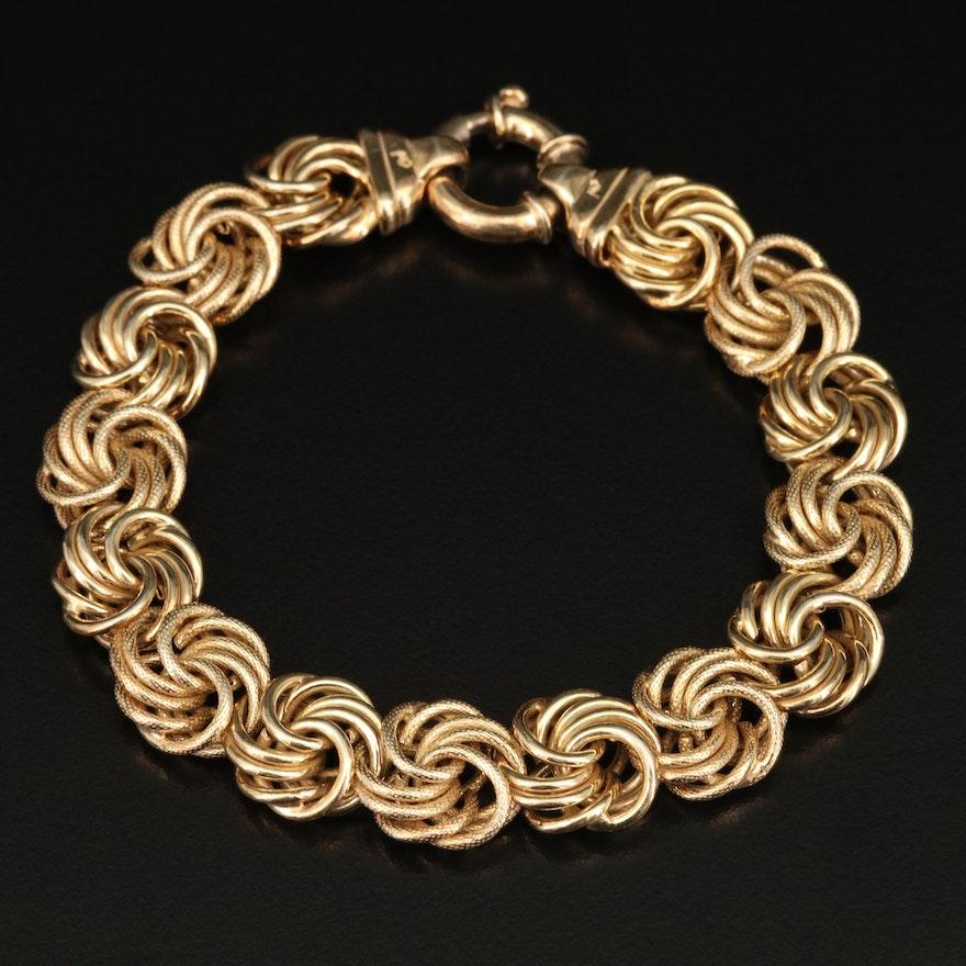 Michael Anthony Sterling Silver Link Bracelet