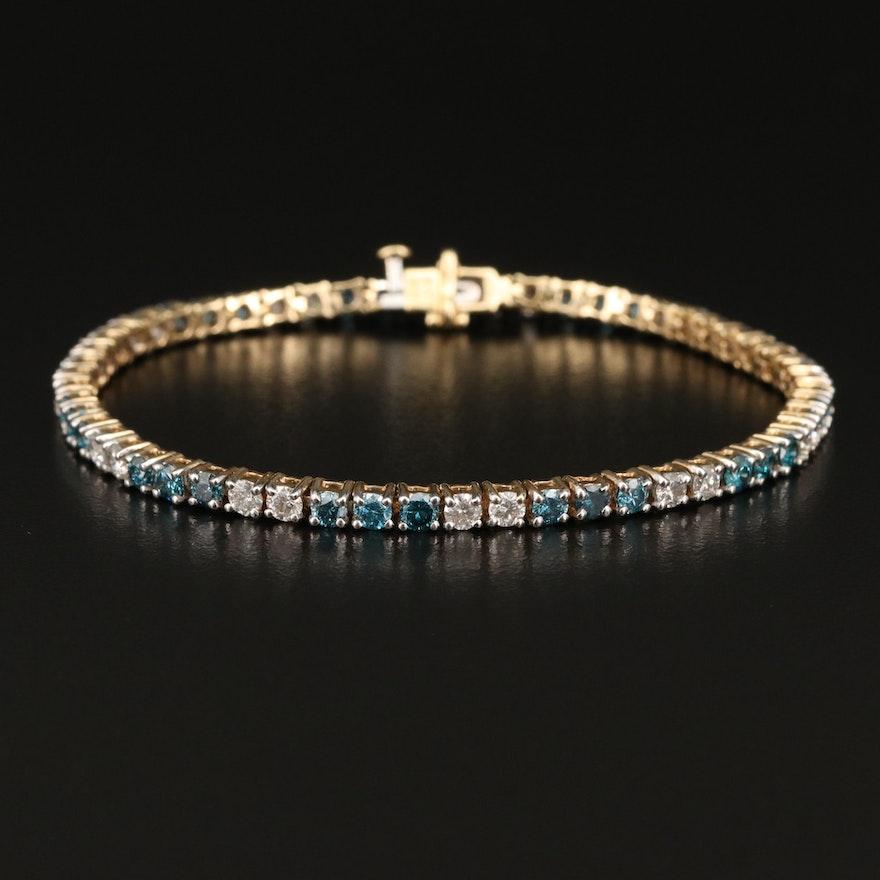 14K 4.00 CTW Diamond Line Bracelet
