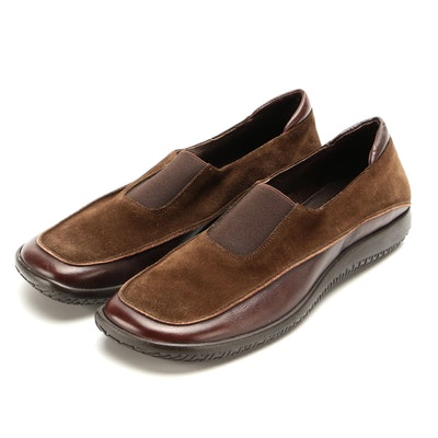 Tommy Bahama Brown Suede and Leather Walking Shoes
