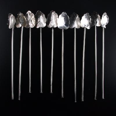 Mexican Sterling Silver Stirrer Straws