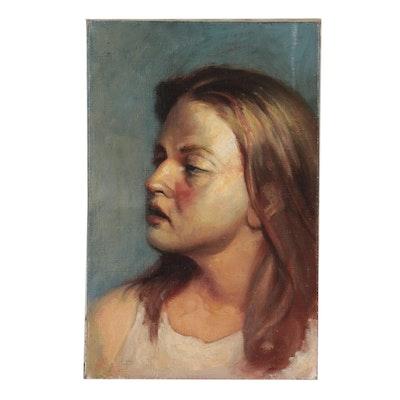"Bruce Erikson Oil Painting ""Head Study,"" 2000"