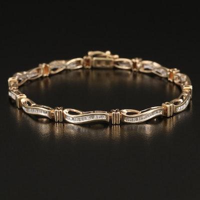 10K 1.25 CTW Diamond Bracelet