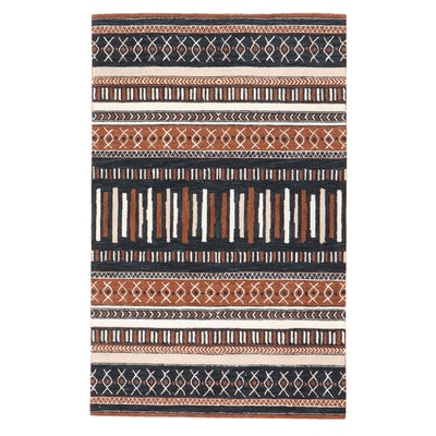 5' x 8' Hand-Tufted Indo-Persian Gabbeh Rug, 2010s